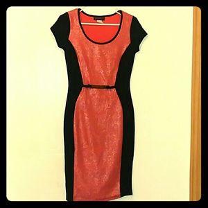 Coral Glitter Dress